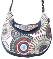 Beautiful Shoulder Bag with Embroidered Mandalas Goa Psy