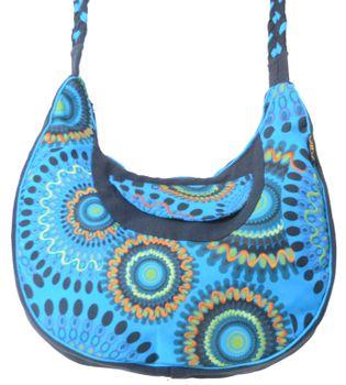 Beautiful Shoulder Bag with Embroidered Mandalas Goa Psy – Bild 3