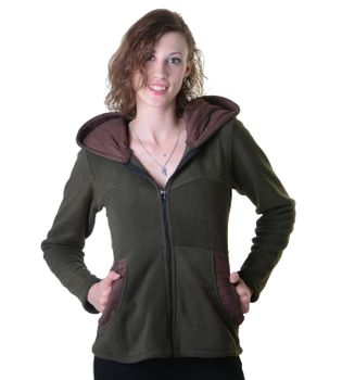 Women's Hippie Fleece Jacket with Hood – Bild 7
