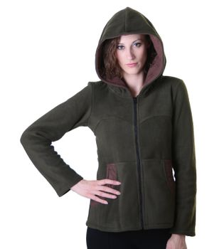 Women's Hippie Fleece Jacket with Hood – Bild 8