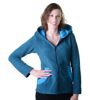 Women's Hippie Fleece Jacket with Hood – Bild 10