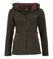 Women's Hippie Fleece Jacket with Hood 001