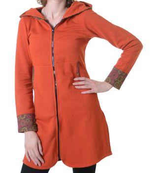Damenmantel aus Baumwolle in ausgefallenem Design -Fleece Jacke Mantel Hippie Goa Psy – Bild 4