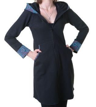 Damenmantel aus Baumwolle in ausgefallenem Design -Fleece Jacke Mantel Hippie Goa Psy – Bild 7