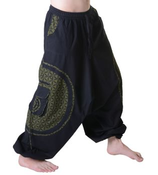 Men's - Harem Pants with Stylish Pattern Hippie Goa – Bild 3