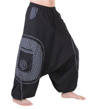 Men's - Harem Pants with Stylish Pattern Hippie Goa – Bild 6