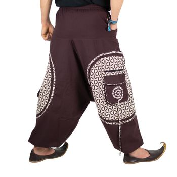 Men's - Harem Pants with Stylish Pattern Hippie Goa – Bild 14