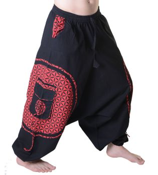 Men's - Harem Pants with Stylish Pattern Hippie Goa – Bild 2