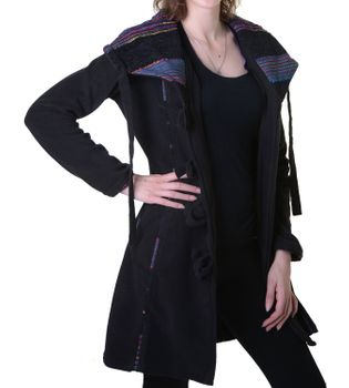 Patchwork Fleece Coat Boho Women's Jacket – Bild 9