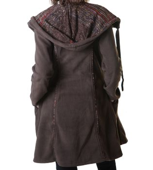 Patchwork Fleece Coat Boho Women's Jacket – Bild 7