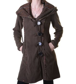 Patchwork Fleece Coat Boho Women's Jacket – Bild 1