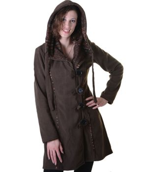 Patchwork Fleece Coat Boho Women's Jacket – Bild 5