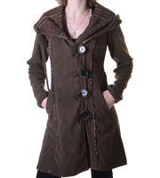 Patchwork Fleece Coat Boho Women's Jacket 001