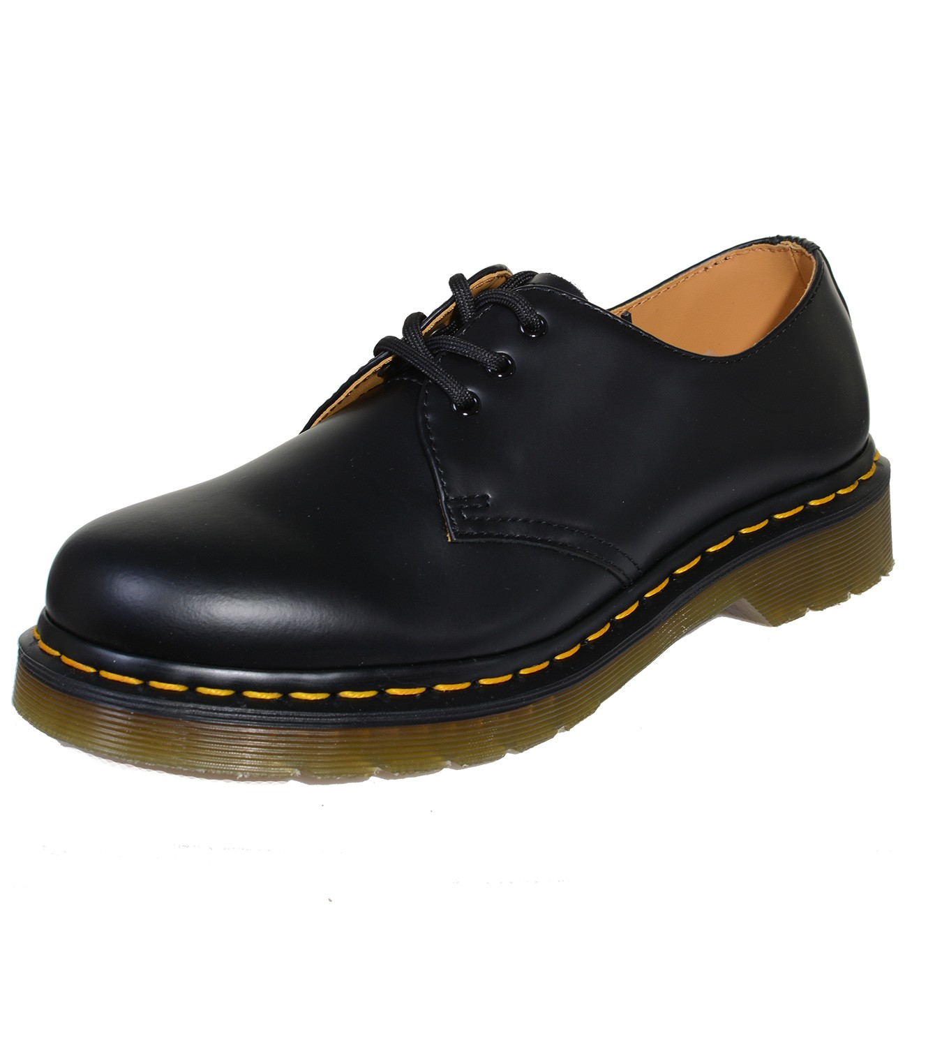 Details about Dr. Martens 3 Hole Docs Classic Loafer Smooth Black 1461 with seam show original title