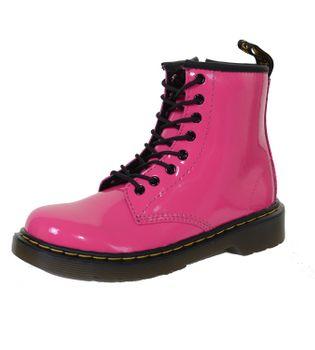 Docs für Kids - Kinder Dr. Martens 8 Loch Boot Schnürstiefelette Lack Patent Lamper -Delaney Hot Pink – Bild 1
