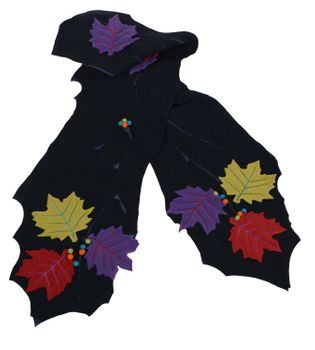 "Fancy Scarf ""Fall"" made from Fleece Hippie Goa Psy – Bild 2"