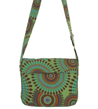 Beautiful Shoulder Bag with Embroidered Mandalas Goa Psy – Bild 5
