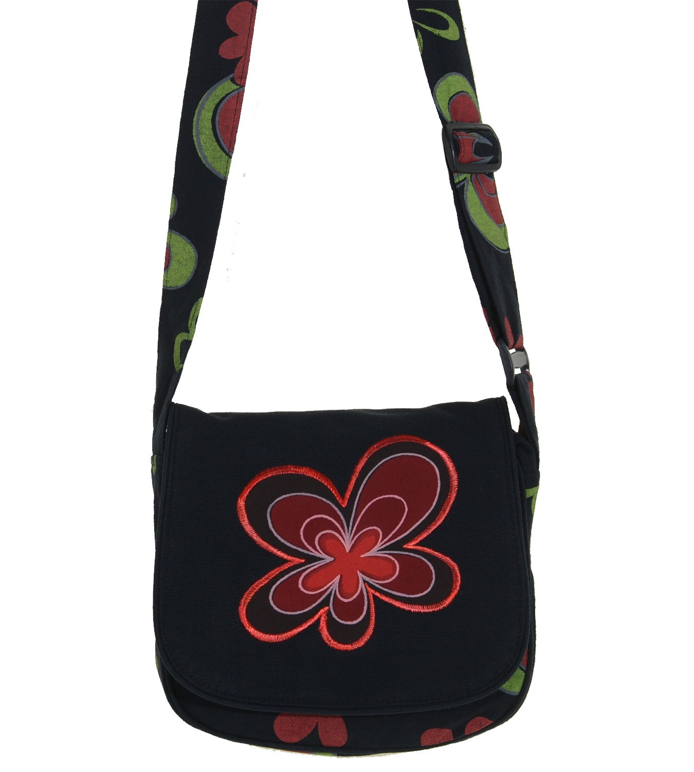 Alternative Damenhandtasche mit Blumenmuster Hippie Goa Psy