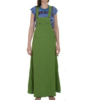 Long Cotton Pinafore Dress/ Dungaree Shirt – Bild 1