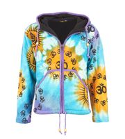 Patchwork Goa Men's Jacket with Elfin Hood 001