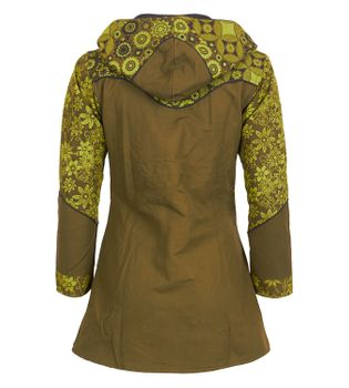 Kunst und Magie Women Coat with Hood Flower Pattern - Jacket Cotton – Bild 2