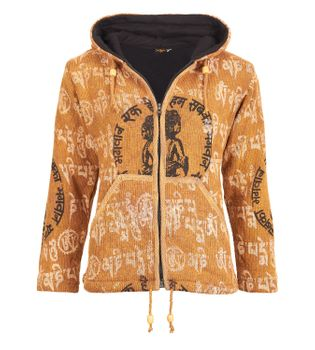 Colorful Women's Knit Jacket Ganesha with Detachable Elfin Hood – Bild 1