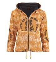 Colorful Women's Knit Jacket Ganesha with Detachable Elfin Hood 001