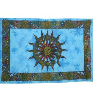 Day cover / wall hanging with sun motif and star sign