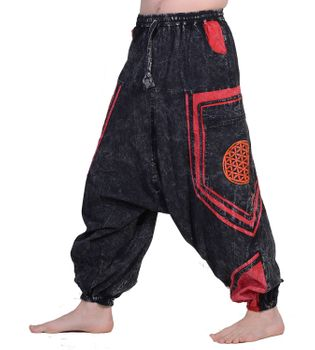 Flower of Love Baggy-Pant  - Stonewashed Goahose  – Bild 4