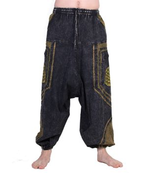 Flower of Love Baggy-Pant  - Stonewashed Goahose – Bild 1