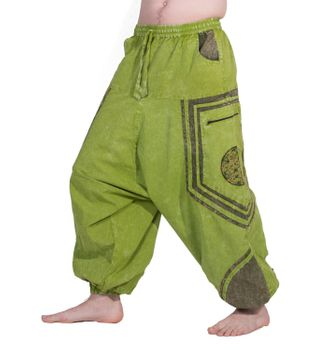 Flower of Love Baggy-Pant  - Stonewashed Goahose – Bild 8