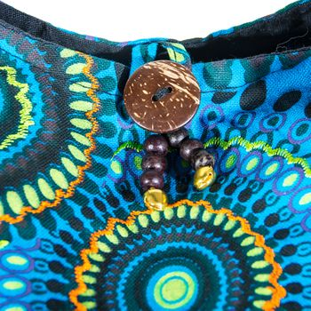 Kunst und Magie shoulder bag with colorful psy patterns – Bild 10