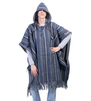 Fancy Cape Poncho with Aztec Pattern in Fall Colors – Bild 5