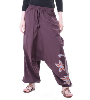 Flamboyant Goa Pants Men with Amazing Dots Hippie Harem Pants – Bild 5