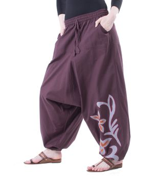 Flamboyant Goa Pants Men with Amazing Dots Hippie Harem Pants – Bild 6