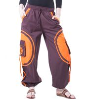Kunst und Magie Unisex pants with Goa spiral 001