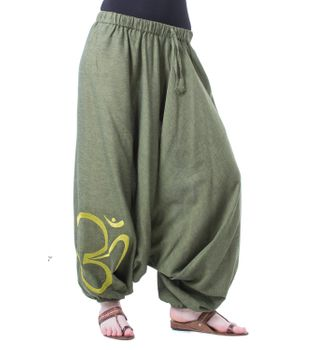 Cotton Harem Pants with OM Symbol – Bild 12