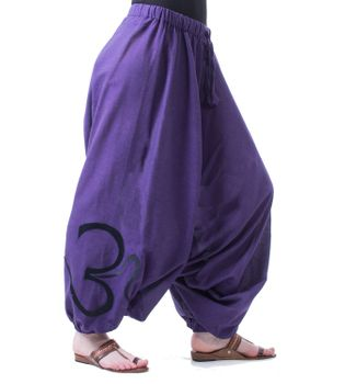 Cotton Harem Pants with OM Symbol – Bild 2