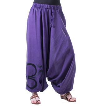 Cotton Harem Pants with OM Symbol – Bild 1