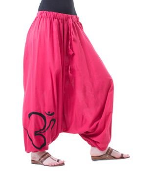 Cotton Harem Pants with OM Symbol – Bild 10