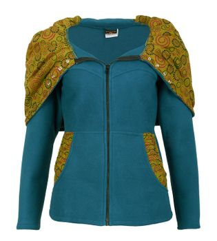 Patchwork Fleece Jacket Boho Women's Jacket – Bild 4