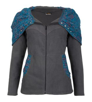 Patchwork Fleece Jacket Boho Women's Jacket – Bild 7
