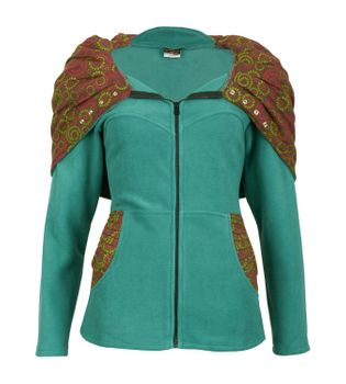 Patchwork Fleece Jacket Boho Women's Jacket – Bild 1