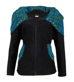 Patchwork Fleece Jacket Boho Women's Jacket – Bild 13