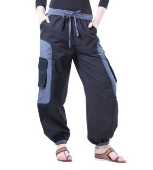 OM Unisex Psy Baggy Pants Hippie Pants Goa Cotton Dance Pants – Bild 1