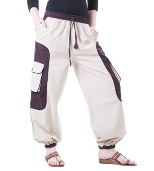 OM Unisex Psy Baggy Pants Hippie Pants Goa Cotton Dance Pants – Bild 3