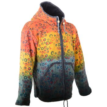 Patchwork Goa Men's Jacket with Elfin Hood – Bild 4