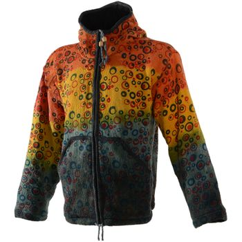 Patchwork Goa Men's Jacket with Elfin Hood – Bild 5
