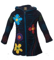 Funny Gnome Jacket with Hood in Blue and Rainbow Colors 001