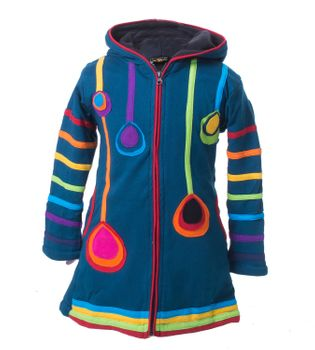 Kunst & Magie Kids Gnome Jacket with elfin hood Goa Psy – Bild 5